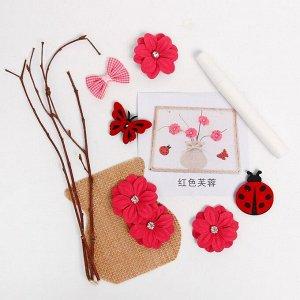Набор для творчества эко декора «Ваза с розовыми цветами» клей 15 мл