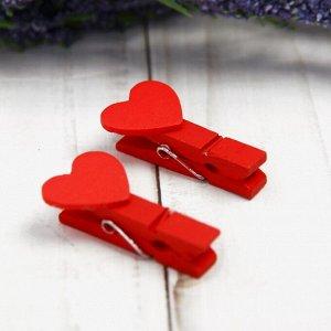 Набор декоративных прищепок «Сердечки» набор 20 шт.
