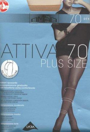 Колготки классические, Omsa, Attiva 70 XXL Plus size