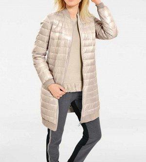 Пальто пуховое, охра