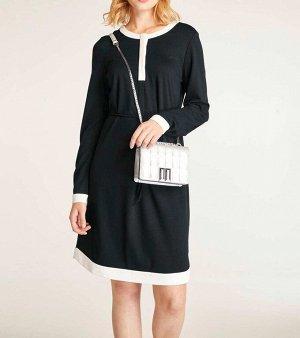 Платье, черно-белое