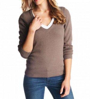 Пуловер, серо-бежевый