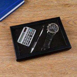 Набор подарочный 3в1 (ручка, часы, калькулятор)