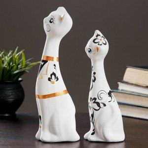 """Фигура """"Love Коты"""" большие набор 2шт белые 7?9?29см 039"""