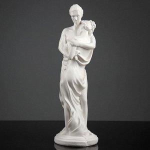"Фигура ""Влюбленные"" белая 13х15х42см"