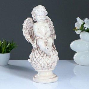 "Фигура ""Ангел сидя на ананасе"" состаренная 18х38см"