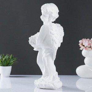 "Фигура ""Ангел с фруктами"" белый 20х26х50см"