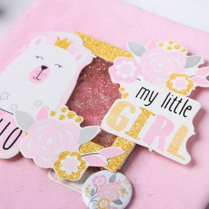 Фотоальбом My little girl. набор для создания. 15.7 ? 15.7 ? 2.5 см