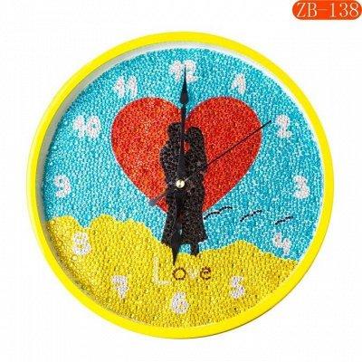 🎨 Я - художник! Подарок от души на 8 Марта! — Часы мозаика  диаметр 30 см — Мозаики и фреска