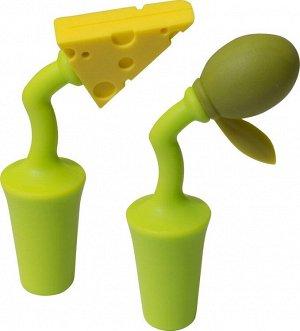 """Набор пробок для бутылки """"Сыр и Оливка"""" 2шт. 2431"""
