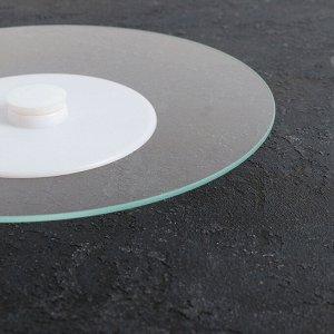 Подставка для торта вращающаяся «Прозрачная», d=30 см