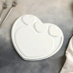 Блюдо для подачи «Эстет.Сердце», 8 предметов: 3 соусника 8?6?4 см, 3 шпажки, нож, вилочка