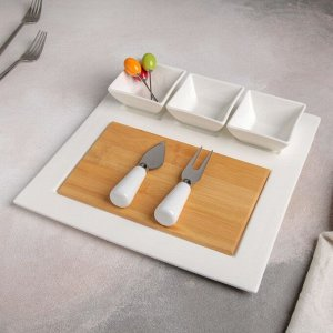 Блюдо для подачи «Эстет», 8 предметов: 3 соусника 8?6?4 см, 3 шпажки, нож, вилочка