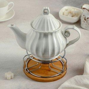 Чайник заварочный «Эстет», с подогревом на металлической подставке