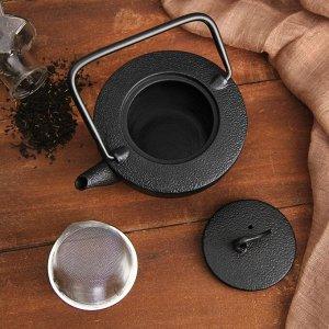 """Чайник с ситом 500 мл """"Орео"""", цвет черный"""