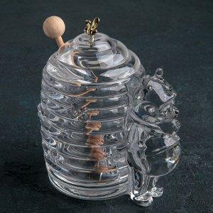 """Емкость для меда 250 мл """"Мишка с ульем"""", 15 см"""