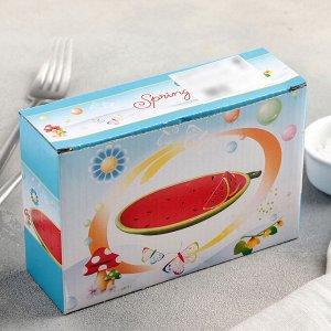 Блюдо сервировочное «Арбуз», 16?10,5?4 см, цвет красный