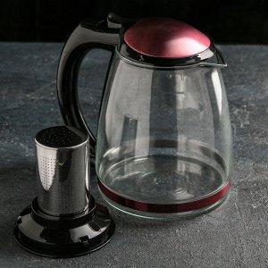"""Чайник заварочный 2 л """"Глянец"""", цвета розовый"""