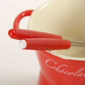 Набор для фондю «Лакомка», 15 см, 2 шпажки, цвет красный