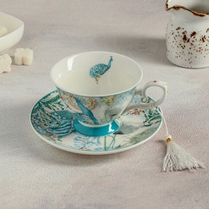 Чайная пара «Жар-птица», чашка 220 мл, блюдце 14,9 см