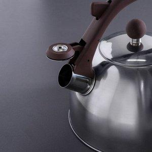 """Чайник со свистком 2,5 л """"Бэйсик"""", фиксированная ручка"""