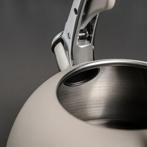 """Чайник со свистком 3 л """"Пуэрто"""", индукция, цвет белый"""