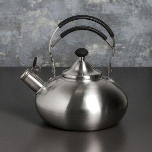 Чайник со свистком «Султан», 3 л, капсулированное дно, индукция, цвет МИКС