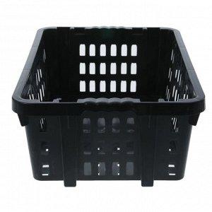 Ящик хозяйственный 60?40?20 см, цвет черный