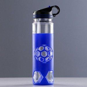 """Бутылка для воды 700 мл, """"Футболист"""", с соской, микс, 26х7 см"""