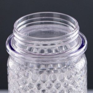 Бутылка для воды 500 мл, с соской, с гелем между стенками для охлаждения, микс, 26х7 см