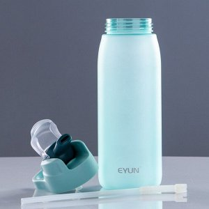 Бутылка для воды 750 мл, спортивная, с поильником, 9х27 см, микс