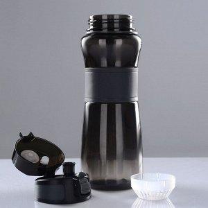 Бутылка для воды 900 мл, клик, на браслете, микс, 8.5х26 см