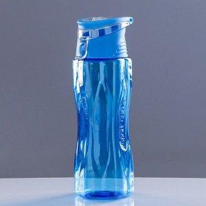 Бутылка для воды спортивная Sport Cup с откидной крышкой, 650 мл, микс