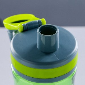"Бутылка для воды ""Sports"", 1000 мл, прозрачная, микс, 9х25.5 см"