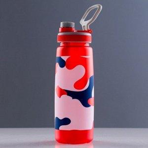 Бутылка для воды 700 мл, с петлей, камуфляж хакки