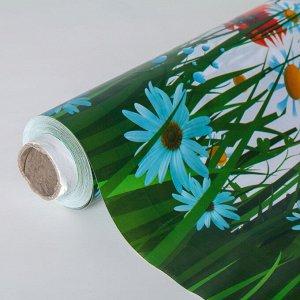Клеёнка столовая на нетканой основе Доляна «Цветочное поле», ширина 137 см, рулон 20 метров