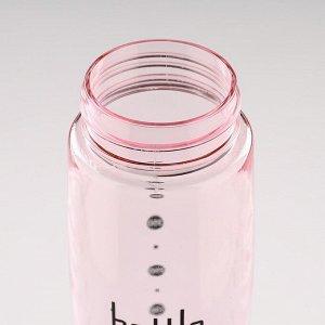 Бутылка для воды 450 мл, с силиконовой петлей, 6.5х24 см, микс