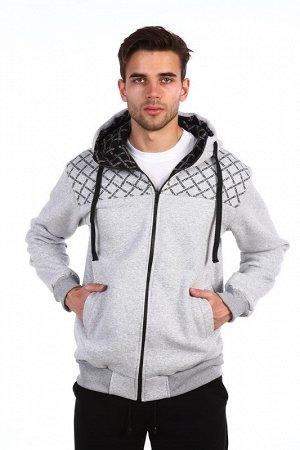 0-1-15 Куртка СТАРТ серый меланж
