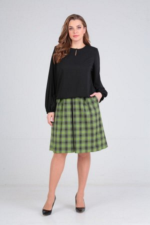 Женский комплект блузон и юбка