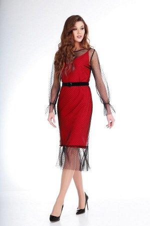 Платье Ксения Стиль 1732 черное/красное