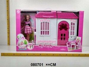 Набор Кукла с домом и мебелью , кор. 60*37 см