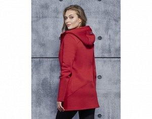 КУРТКА J58 Бордовый Материал: COTTON с начесом плотный СОСТАВ : ХЛОПОК 92% ЭЛАСТАН 8% Куртка утеплённая на молнии с капюшоном, на полочке карманы в швах