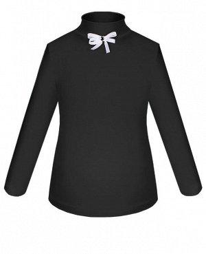Школьная блузка с бантиком для девочки Цвет: тёмно-серый