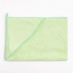 Пеленка-полотенце для купания зелёный