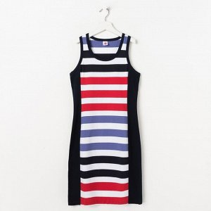"""Платье для девочки """"Цветная полоса"""", полоса"""