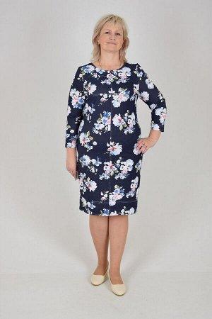 Платье Сандра (футер джинс, расцветка 1)