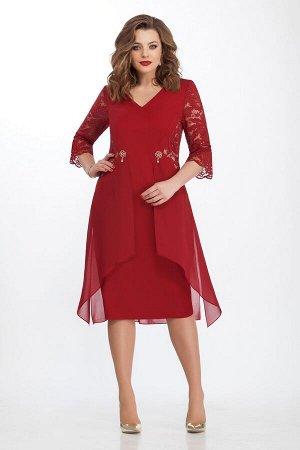 Платье TEZA 121 бордо