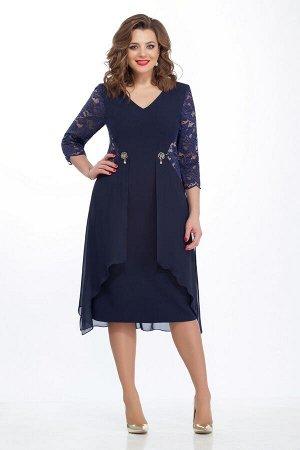 Платье TEZA 121 синее