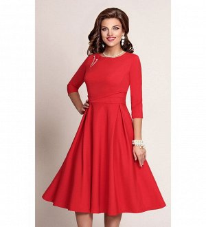 Платье Платье Vittoria Queen 2573/1  Рост: 164 см.  Платье женское, отрезное по линии талии. Лиф платья прилегающего силуэта с нагрудными вытачками и круглой горловиной по переду и фантазийными подре