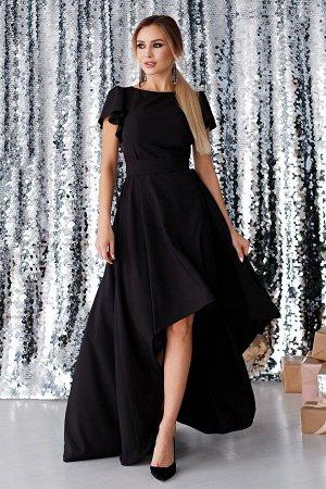 Платье Асимметрия цвет черный  (П-50-4)